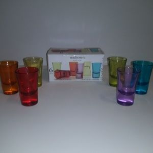 midtown with style 6 piece set 2oz shot glasses